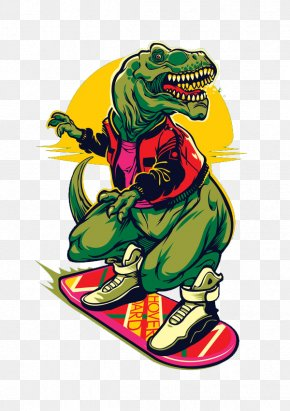 Dinosaur Rock - Marty McFly T-Shirt Sticker PNG