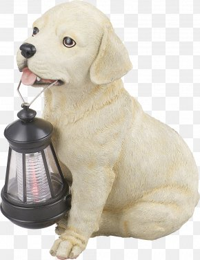 Golden Retriever - Light Fixture Solar Lamp Street Light Garden PNG