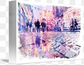 Painting - Temple Bar Watercolor Painting Canvas Print Art PNG