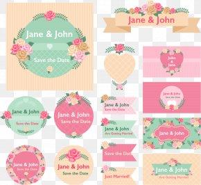 15 Vector Floral Wedding Label - Wedding Invitation Flower PNG