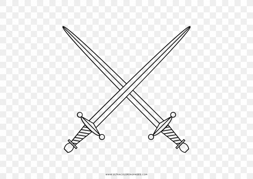 Sword Coloring Book Drawing Knight Png 1000x707px Sword