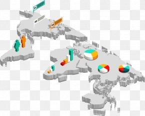 Vector Three-dimensional Map - World Map World Map Euclidean Vector Three-dimensional Space PNG