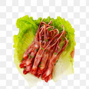 Lettuce And Duck Tongue - Duck Food Merienda PNG