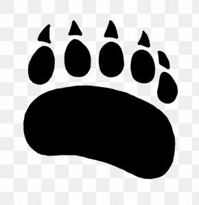 Cartoon Bear Printing - Polar Bear American Black Bear Paw Clip Art PNG