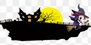 Halloween Haunted House - Halloween Computer File PNG