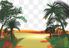 Tropical Jungle - Jungle Cartoon Clip Art PNG