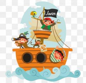 Calavera Pirata - Phonograph Record Piracy Sticker Child Decorative Arts PNG