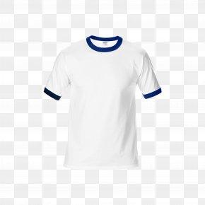 Navy - Ringer T-shirt Navy Blue White PNG