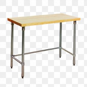Table - Table Butcher Block Wood Workbench Stainless Steel PNG