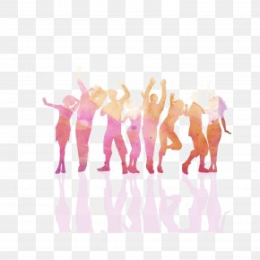 Crowds Of People Silhouette - Party Nightclub Clip Art PNG