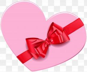 Heart Gift Box Clip Art Image - Gift Box Heart Clip Art PNG