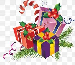 Christmas - New Year Christmas Gift Clip Art PNG