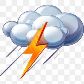 Thunderstorm Lightning Weather Icon - Rain ICO Weather Icon PNG