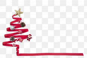 Christmas Ribbon - Christmas Tree Ribbon Christmas Decoration Gift PNG