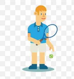 Cartoon Tennis Player - Tennis Player Cartoon Clip Art PNG