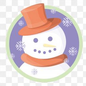 Vector Cute Snowman Tag - Snowman Christmas Snowflake Clip Art PNG
