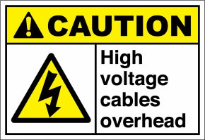 High Voltage - Decal Safety Sticker American National Standards Institute Label PNG