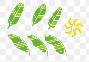 Hand-painted Decorative Green Banana Leaf - Banana Leaf Download Clip Art PNG