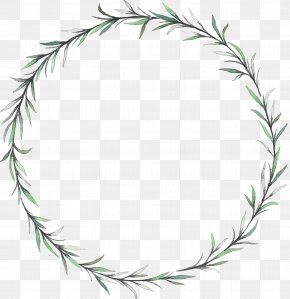 Willow Leaf Wreath - Wreath Leaf Flower PNG