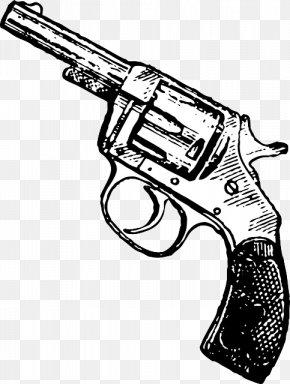 Handgun - Revolver Firearm Handgun Pistol Clip Art PNG