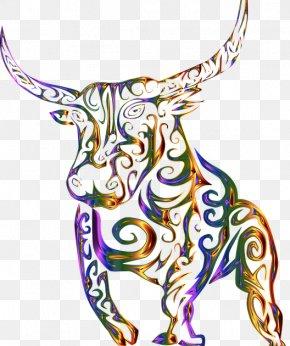 Bull - Texas Longhorn Bull Clip Art Line Art Image PNG
