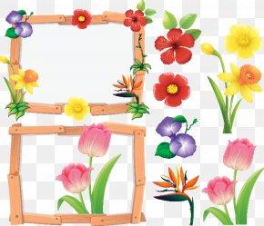 Wildflower Cut Flowers - Floral Spring Flowers PNG