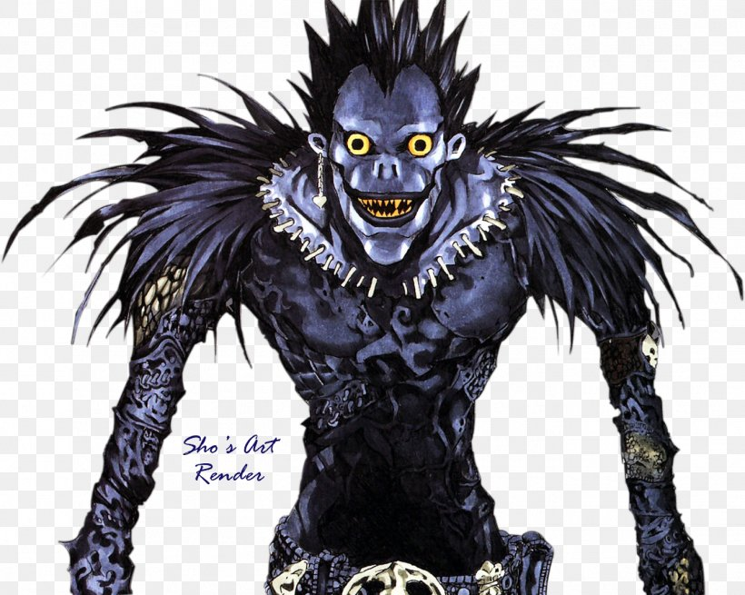 Ryuk Light Yagami Rem Death Note Character Png 1351x1080px