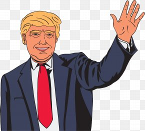 Celebrity Cartoon Cliparts - United States Donald Trump Cartoon Clip Art PNG