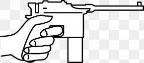 Weapon - Mauser C96 Firearm Gun Barrel Clip Art PNG