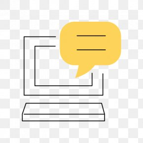 Simplified Computer And Dialog Box - Dialog Box Computer Download PNG