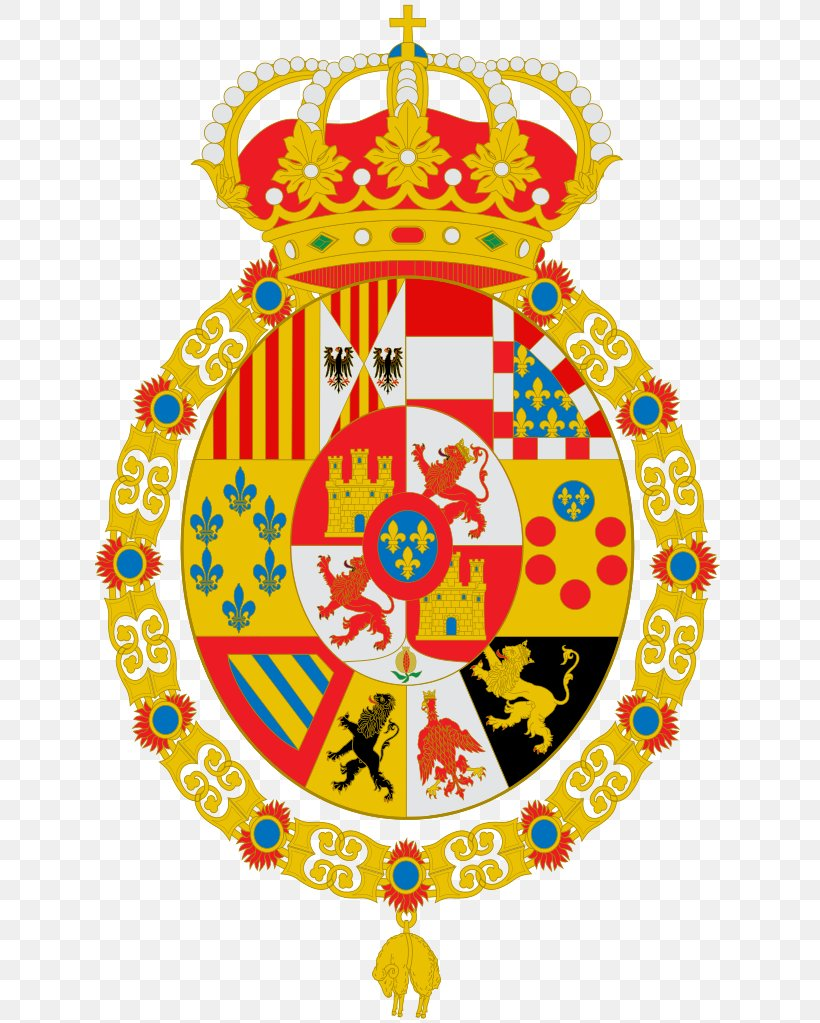 Coat Of Arms Of Spain Escutcheon Prince Of Asturias Order Of Charles Iii Png 630x1023px Spain
