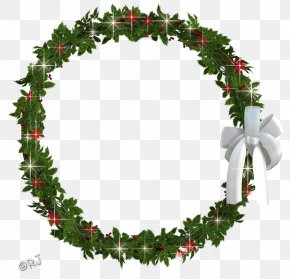 White Wreath - Holly Christmas Decoration Evergreen Fir PNG