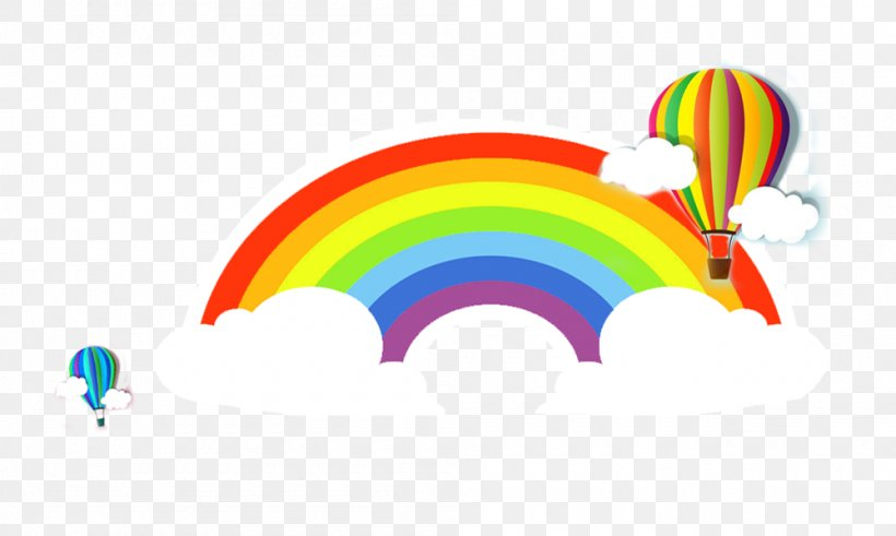 Rainbow Euclidean Vector, PNG, 1000x600px, Rainbow, Cloud, Color, Drawing, Sky Download Free