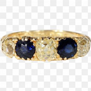 Ring Jewelry - Sapphire Ring Jewellery Gold Estate Jewelry PNG