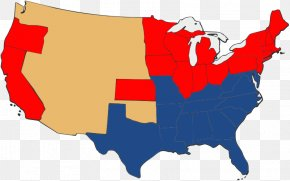 United States - Second American Civil War United States Confederate States Of America Union PNG