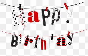 Happy Birthday Streamer Transparent Clip Art Image - Birthday Clip Art PNG