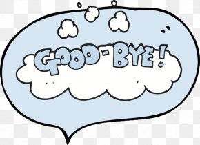 Cartoon Bubbles Goodbye - Speech Balloon Drawing Illustration PNG
