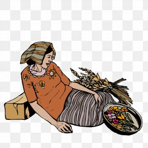 Woman Sitting On The Ground - Woman Clip Art PNG