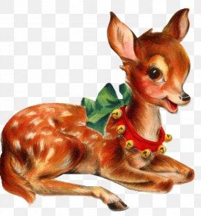 Vintage Christmas Deer - Santa Clauss Reindeer Santa Clauss Reindeer Christmas Clip Art PNG