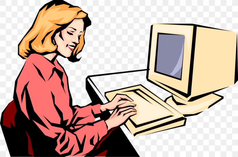 Computer Woman Typing Clip Art Png 1062x700px Watercolor Cartoon Flower Frame Heart Download Free