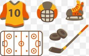 Vector Play Hockey - Ice Hockey Flat Design Hockey Stick PNG