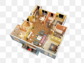 3D Design Model Apartment - Floor Plan Wireless Repeater PNG