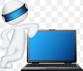 3D Vector People With Laptop - Laptop Dell Computer Repair Technician Installation PNG
