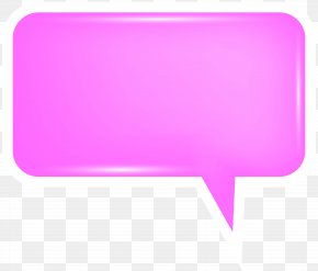 Bubble Speech Pink Transparent Clip Art Image - Rectangle Font PNG