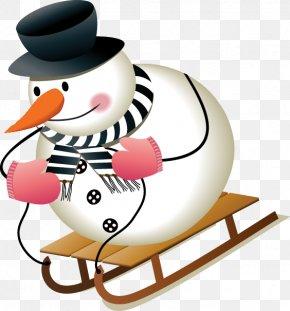 Cute Christmas Snowman Material - Santa Claus Snowman Christmas Clip Art PNG