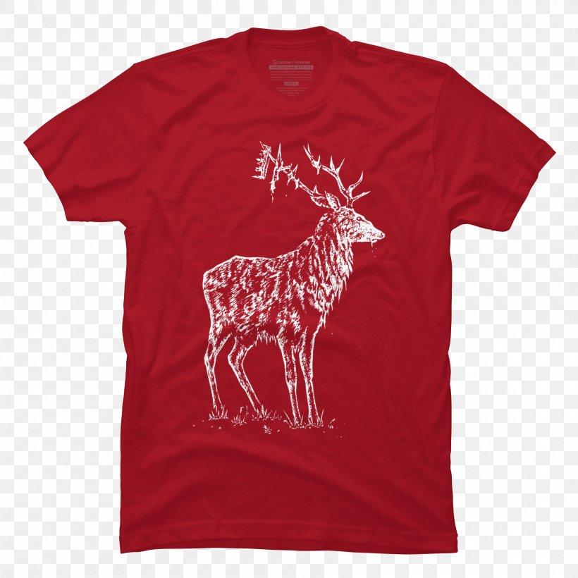 Vintage T Shirts T-shirt Hoodie Neckline Scoop Neck, PNG, 1800x1800px, Vintage T Shirts, Active Shirt, Clothing, Crew Neck, Deer Download Free