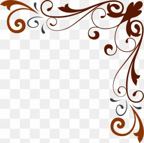 Corner Flower Pattern Shading Material - Flower Visual Design Elements And Principles Pattern PNG
