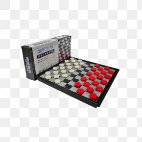 Draughts Folding Magnetic Chess Board Large Red And White Plastic - Chess Draughts Board Game Chinese Checkers PNG