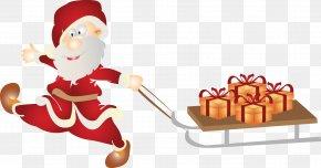 Santa Claus Gift Creative - Santa Claus Christmas Ornament Gift Clip Art PNG