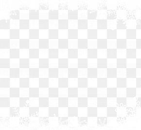 Little Fresh Snow Border - Angle Point Black And White Pattern PNG